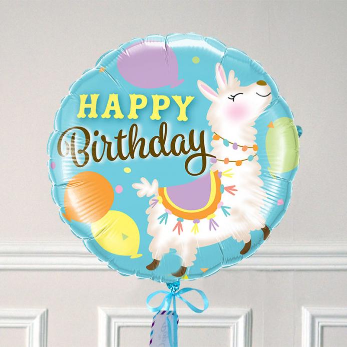 Ballon Cadeau Happy Birthday Lama - The PopCase