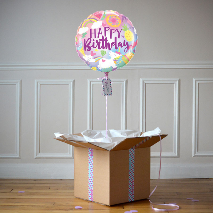 Ballon Cadeau - Happy Birthday Funtastic
