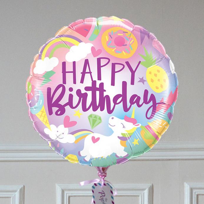 Ballon Cadeau - Happy Birthday Funtastic