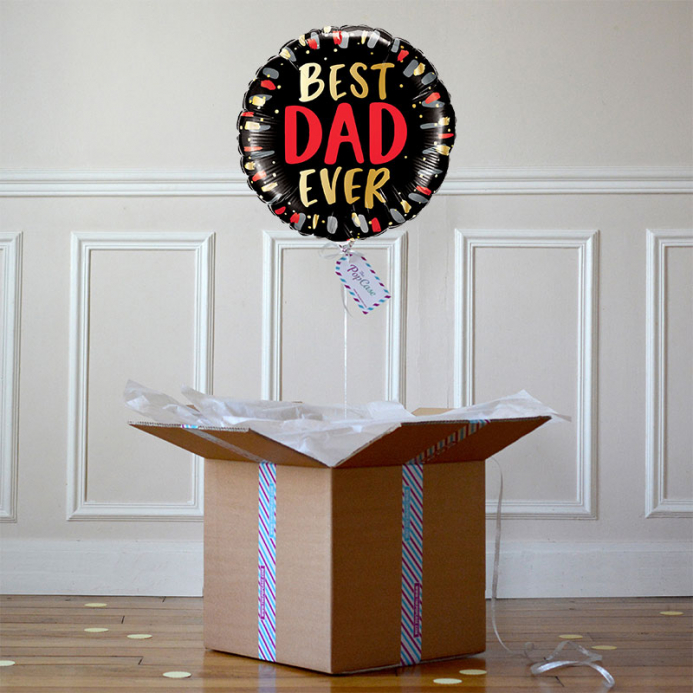 Ballon Cadeau Papa - Best Dad Ever - The PopCase