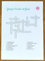 Printable - Mots croisés Ecolier