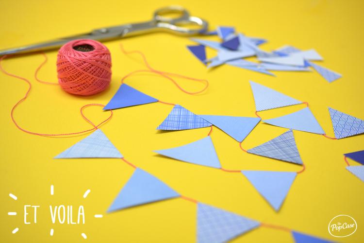 Voila - Guirlande Fanion - DIY The PopCase