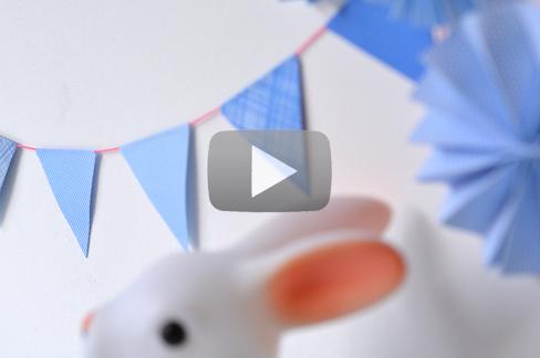 Video - Guirlande de fanions - The PopCase