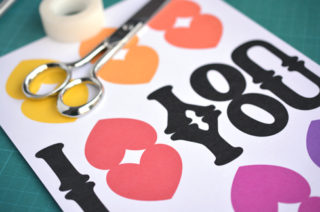 Printable - Boite Love - The PopCase