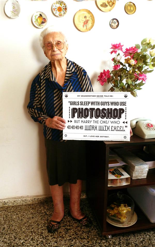 conseil grand-mère photoshop