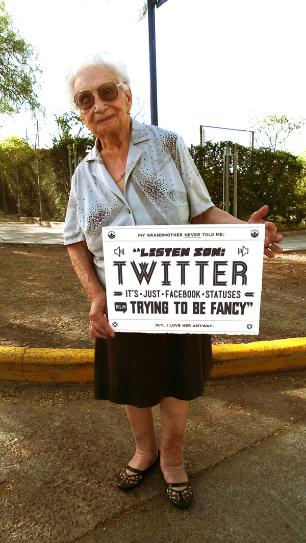 Grandmother Tips Twitter