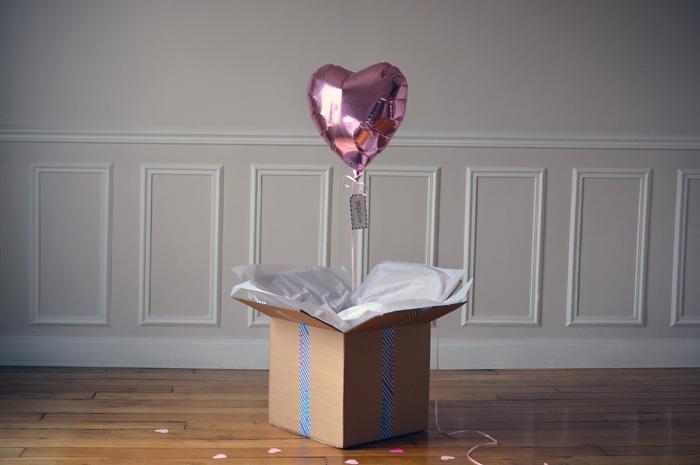 Photo Ballon Coeur Rose Pastel