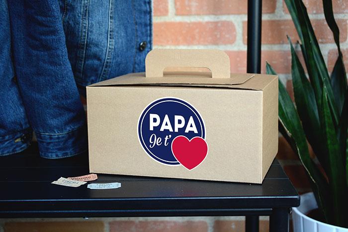 Cadeau fête des pères - Coffret Papa je t'aime - The PopCase