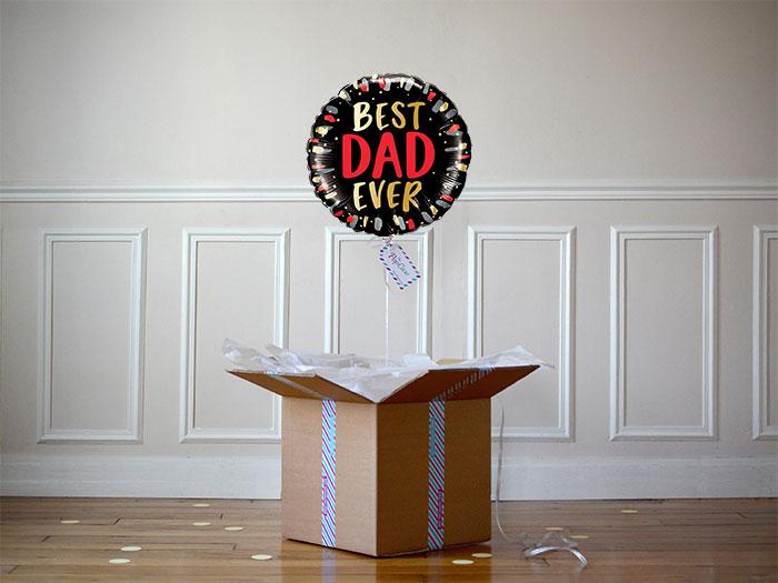 """Le ballon cadeau fête des pères """"Best dad ever"""""""